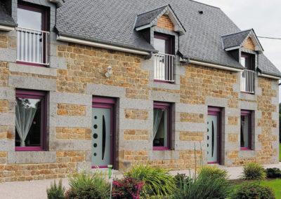 Collection Boréale PVC : Maison PVC laqué couleur parme